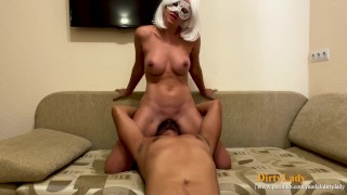 Sexy wife rides his face Amazing facesitting and intense orgasm from pussy licking and ass eating