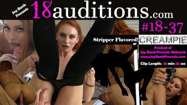 #18-37 Red Head Amateur Creampie - 18auditions x Jay Bank Presents
