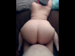 chubby girlfriend begged for cock after shower doggy pov