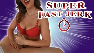 Incredible Fast Speed Handjob is testing his limits