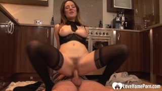 Housewife gets fucked by her son's best friend
