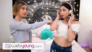 WebYoung Kristen Scott Shows Her Friend How The First Time Is
