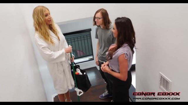 Ariella Ferrera & Puma Swede - Getting Laid With The Maid Becomes Step-Son BlowJob Bribery 2