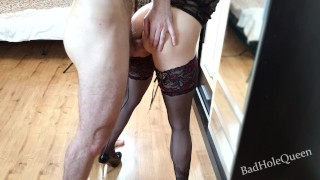 Finally, the stepsister's ass is ready for hard anal sex. Gets sperm in the mouth and swallows.