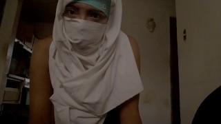 Real Amateur Arab Muslim Wife Mom In Hijab Masturbates Her Creamy Pussy To Extreme Orgasm On Webcam