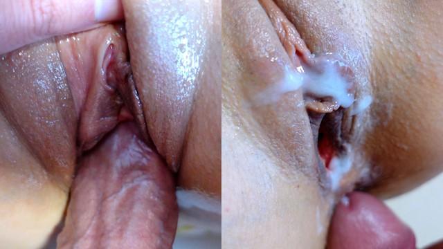 Weibliche Muschi Cremig Sperma
