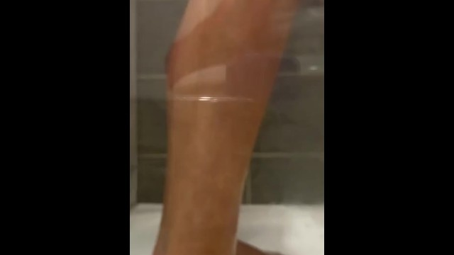 Peeping Tom Steamy shower time self worship stinky smelly dirty feet washing  Foot fetish 14