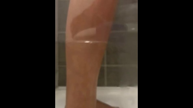 Peeping Tom Steamy shower time self worship stinky smelly dirty feet washing  Foot fetish 28