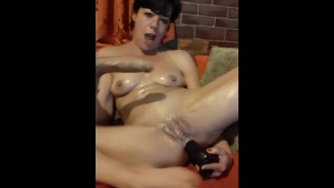"Anal, deepthroat and squirting, 8.5"" dildos."