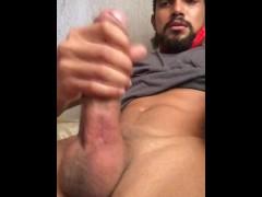 Delicious cum pulls out this big dic.
