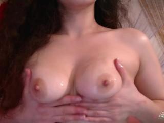 The pleasure of boobs worship...