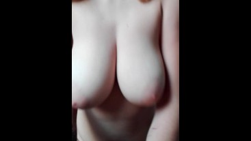 Nerdy Blonde Girl from School Rides me with her Big Natural Tits