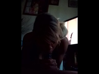 Ebony head deepthroating