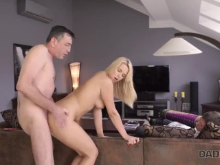 DADDY4K. Bored babe decides to have spontaneous sex with BFs dad
