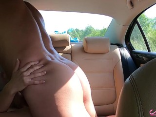 Brunette Paid Taxi Driver Blowjob and Hard Rough Sex - Cum Inside