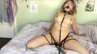 Gagged Tied & Begging for Orgasm