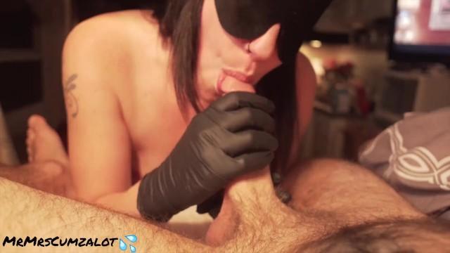 Blowjob;Cumshot;Fetish;Handjob;POV;Small Tits;Role Play;Exclusive;Verified Amateurs;Tattooed Women kink, petite, point-of-view, gloves, latex, latex-bondage, blindfold