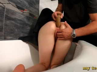 Step sister masturbating bathroom and i helped her...