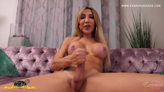 Hot Italian Trans Finger Bangs Her Tight Ass then Jerks Off Her Massive Dick 17