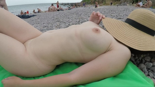 Hot busty nude babes Public exhiibitions amateur bebe - hot sexy lady at nude beach - she is wearing only a hat