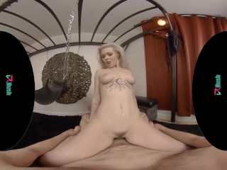 VRHUSH Sexy blonde Kay Carter wants to try out your sex swing