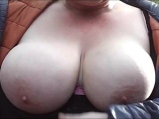 Wife Cleaning Up A Strangers Cum Off Her Big Tits