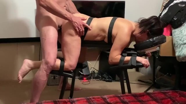 Very hairy scary story First time extreme sex bench is scary