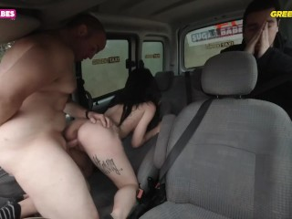 Taxi driver fuck wife front of her husband...