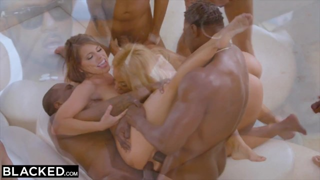 BLACKED - Teanna Trump, Adriana Chechik, and Vicki Chase in a BBC GB. Nuff Said.