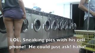 Helena Price - College Campus Laundry Upskirt Flashing While Washing My Clothing!
