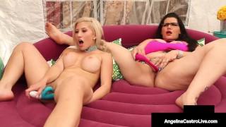 Phat Ass Pussies Angelina Castro & Cristi Ann Dildo Fuck!