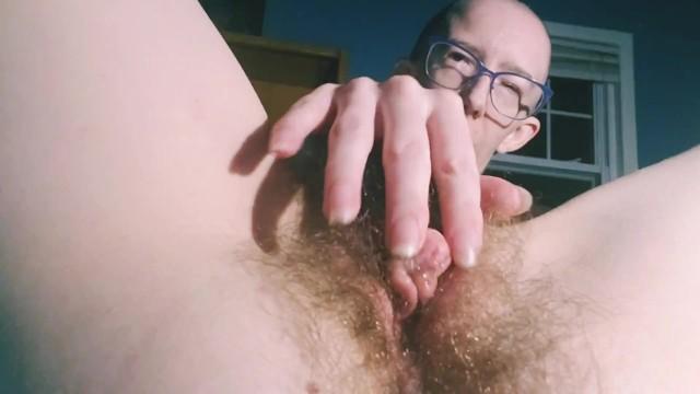 Pleasurable clits Horny disabled anal addict shoves big hard blue dildo deep inside ass rubs clit