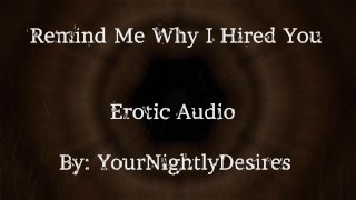 Interview Part 2 Why Did I Hire You? [Spanking] [Kissing] [Office Sex] (Erotic Audio for Women)