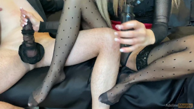 Free nude brittney murphy Blonde plays with stockings on cock. gives handjob footjob with stockings. cumshot on legs