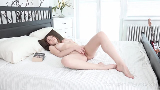 Young Anal Tryouts - Excited lad helps his naked chick to get satisfaction