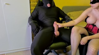 Chastity Slave Tied Up, Tortured And Denied By Cruel Femdom Mistress In Fishnets
