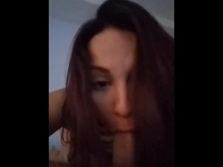 Real life hotwife records husbands raw while husband...
