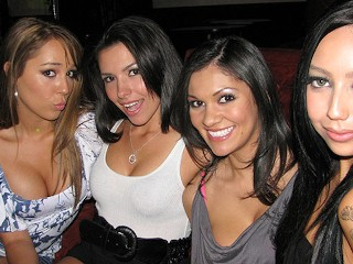 Hot latina college girls wild public the strip...