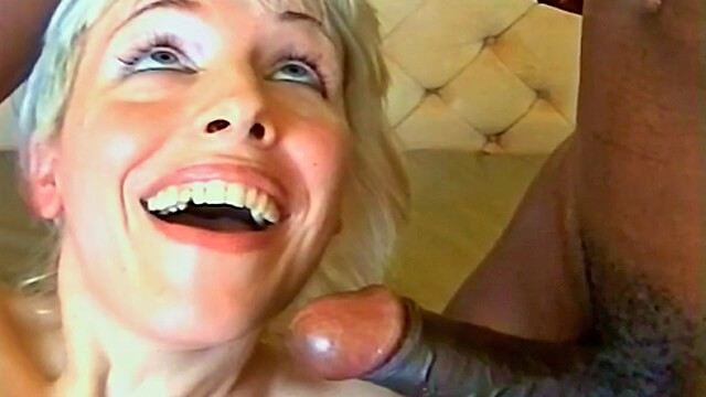 Moms interracial wives Blondes first interracial threesome