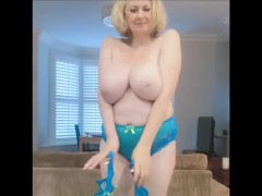 Annabel's turquoise bra and panties
