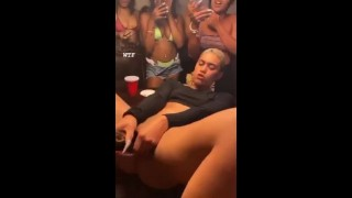 Red bone fucking her self in In the middle of an party