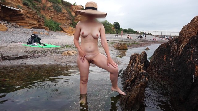 Young nudist peeing Pee on the beach - nude girl pissing on public beach - nudist extreme public piss standing