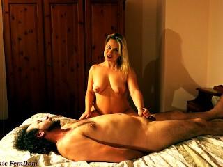 Kisses slave handjobs humiliation...
