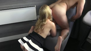 Sexy hot blonde sloppy blowjob spit face kissing rimming deepthroat cumshot - Mya Quinn