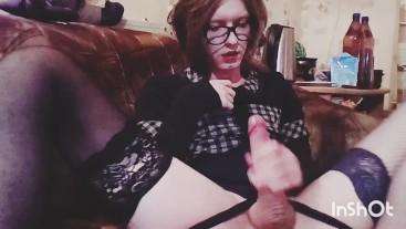 Cute Teen Femboy Masturbation Big Dick