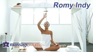 Massage Rooms Surprise Cock Massage by Romy Indy for Lucky Guy