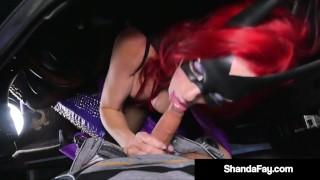 Cosplay Cougar Shanda Fay Sucks Some Dick Curbside!