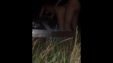 tinder girl fucked in the ass on the car hood in the woods