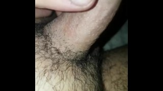 Tiny dick gets Lubed up and cums