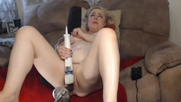 BBC on Fuck Machine Makes Her Cum Over and Over and Over